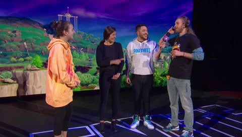 Ewok does an interview at the Fortnite Pro AM