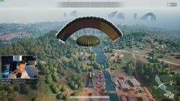Wackyjacky101 lands on the airdrop mid-air