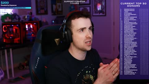 DrLupo emotional charity reaction