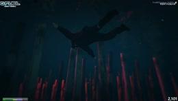 Underwater knife fight
