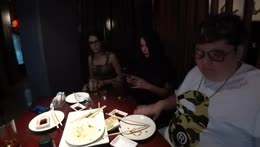 Drunk people at a resturant
