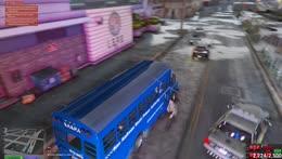 Angel drives the Fun Bus