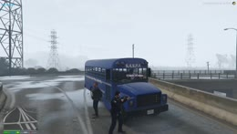 cop bus sniper