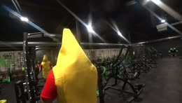 Esfand shows us some up right rows in his Banana suit