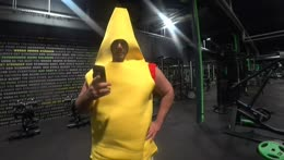 People's Paladin EsfandTV spotted while doing 3am workout in Banana Suit