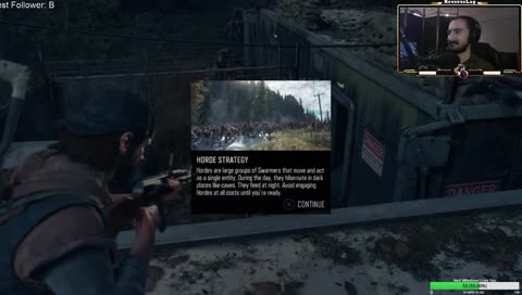First day of streaming Days Gone. Of course I blew myself up...