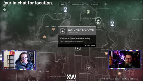 XUR LOCATION 8/9