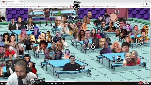 Nick notices something about Nymn's cafeteria picture...