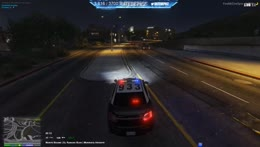 Hard 10-50 Stolen police car chase...Officer view