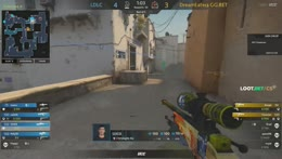 kinqie - 3 AK HS kills on the bombsite A offensive (2vs3 situation)