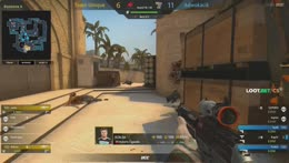 R0b3n - 3 quick SG556 kills (2 HS) on the bombsite A bomb plant defense (2vs3 situation)