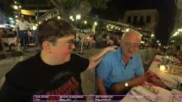Dad teaching us Greek...lol.