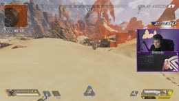 Diego clapping a kid in apex legends