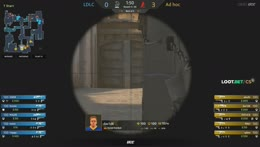 Happy - 3 HS kills (2 M4A4, AK) on the Long defense (initial frags)