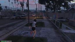 Ellie defending her turf.