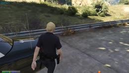 Enforcer showing Eugene what for!
