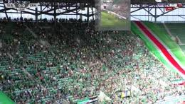 Śląsk - Cracovia: Radość z bramki Roberta Picha (1:0)