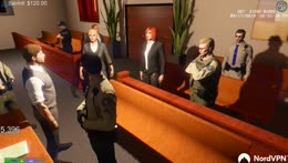 Casual courtroom chat