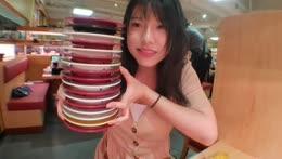 お客様の最高記録は23皿です。