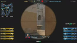Ax1Le (CT) - 3 quick M4A4 kills (2 HS) on the Short to CT Mid flank (initial frags)