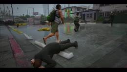 Taser fight in the Barrio