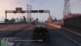 Gladys driving like a pro!