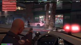 crims chasing cop