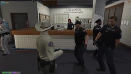 cops celebrating