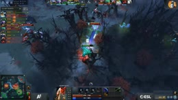 Teamfight on mid. DP double kill - Trade kills