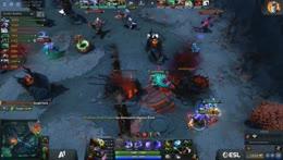 Highground teamfight on bot. Dire lost 3 heroes