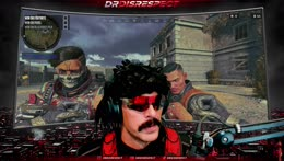 DOC watching stream sniper breaking it down... Nice dance moves.