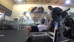 chadkif casually benching 2 plates for 5 Pog