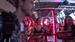 Jake runs away from booth girls