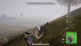 Damn I think he was mostly dead by the storm lol  PUBG