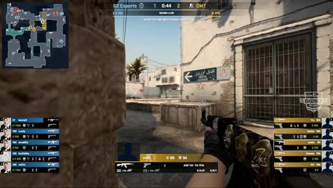 kennyS - 4 M4A1-S kills (2 HS) on the bombsite A defense (initial frags)