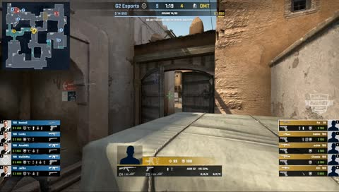 kennyS - 3 AWP kills on the bombsite A defense (initial frags)