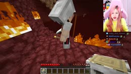 Hachubby sleeps in the nether