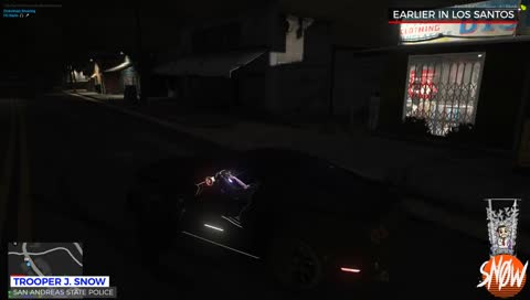 Undercover CID winning street race then placing spikes at the finishing line