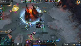*LONG* Dire trying to defend the ancient. Juggernaut gets ULTRA Kill + Radiant victory