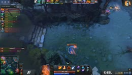 3v3 fight on top. Lina ganked and gets double kill