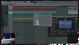 Mikal  making music