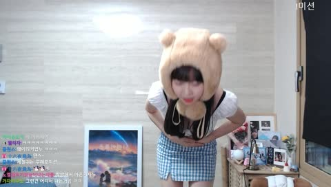 女實況主꿀혜又來跳Gummy Bear了!!
