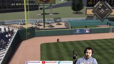 Super Cheeseball Player gets taken deep for a 3-run HR.  Kept throwing FB up and in.