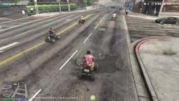 ATV+Gang+pull+up+on+new+bike+gang