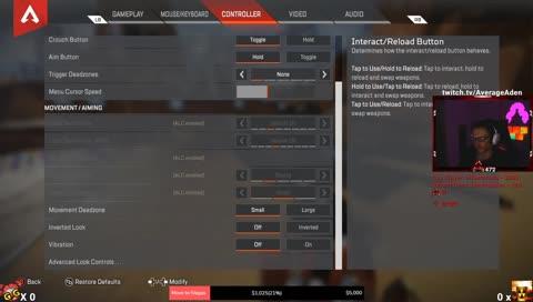Aden's Advanced Look Control Settings