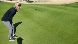STpeach at the golfcourse