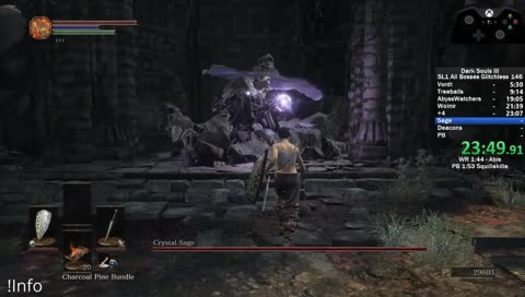 Sage input-reads the shield you have to determine which attack to throw! Grass Crest = Estus attack