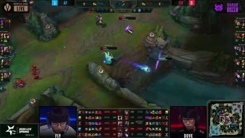 Lee Sin missing his Q on the raptors and dying because of it in LCK