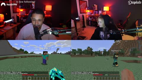 Malena's first time playing Minecraft