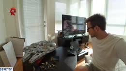 Jake completes a 7500 piece Lego set